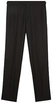 Jaeger Wool Mohair Regular Fit Dinner Suit Trousers, Black