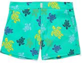 Vilebrequin Merise Turtle-Print Mid-Length Swim Shorts