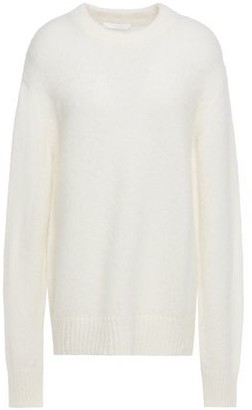 Helmut Lang Oversized Cutout Brushed-knitted Sweater