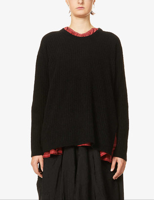 UMA WANG Round-neck wool-blend jumper