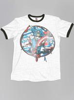 Junk Food Clothing Kids Boys Captain America Tee-ew/bw-xl