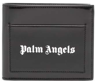 Palm Angels Logo-stamped Leather Bifold Wallet - Mens - Black