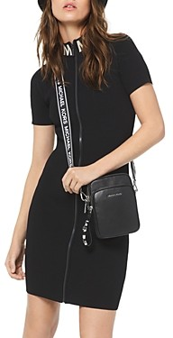 MICHAEL Michael Kors Ribbed Zip-Front Sheath Dress