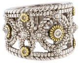 Judith Ripka Two-Tone Diamond Garland Band