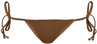 Talia Collins - The Tie-me-up Bikini Briefs - Khaki