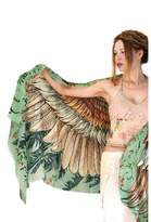 Shovava Delicately hand-painted and digitally printed Art of Wide-Spread Shawl, Scarf