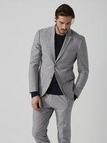Frank + Oak The Laurier Linen-Cotton Suit Jacket in Light Grey