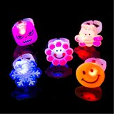 CLYH Creative Gifts For Christmas Kids Gifts Birthday Girl Cartoon Glow Ring