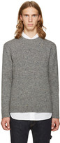 Junya Watanabe Gray and Black Shetland Tweed Sweater