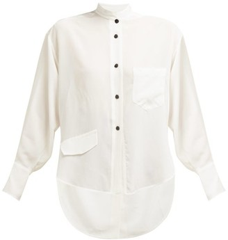 Petar Petrov Back Slit Silk Crepe Shirt - White