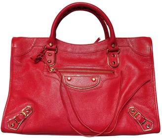Balenciaga Classic Metalic Red Leather Handbags