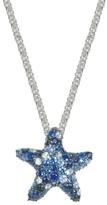 Effy Jewelry Effy 925 Sterling Silver Blue Sapphire Starfish Pendant, 2.82 TCW
