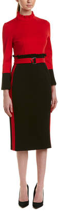 ONEBUYE Sheath Midi Dress