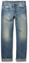 Levi's 1954 501 Slim-Fit Distressed Selvedge Denim Jeans