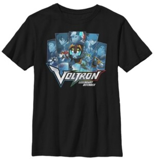 Fifth Sun Voltron Big Boy's Legendary Defender The Paladins and Lions Short Sleeve T-Shirt