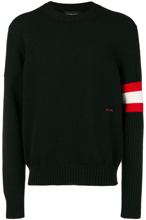 Calvin Klein striped sleeve sweater
