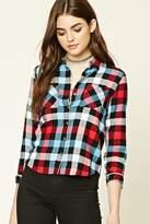 Forever 21 Buffalo Plaid Button-Up Shirt