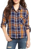 BP Women's Crop Plaid Shirt