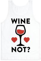 White 'Wine Not?' Scoop Neck Tank