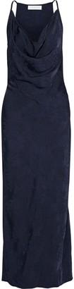 Victoria Beckham Draped Satin-jacquard Maxi Dress
