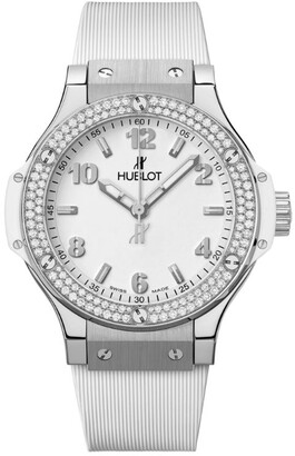 Hublot Stainless Steel and Diamond Big Bang Watch 38mm