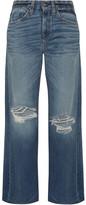 Simon Miller Basin Distressed Wide-leg Jeans - Mid denim