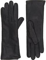 Barneys New York Women's Gusseted Gloves-BLACK
