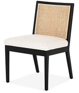 Thumbnail for your product : One Kings Lane Aimee Cane Side Chair - Ebony/Flax - Black