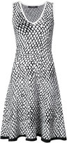 Derek Lam geometric print flared dress - women - Polyester/Viscose - XS
