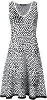 Derek Lam geometric print flared dress - women - Viscose/Polyester - XS