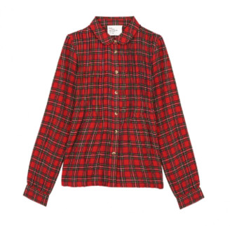 Leon & Harper - Large Red Natural Fibre Cyrus Tartan Shirt - large | cotton | red - Red/Red