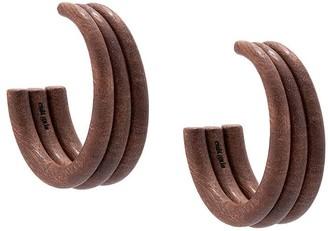 Cult Gaia Tripple Hoop Earrings