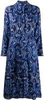 Etro paisley-print tie shirt dress