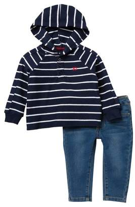 Joe's Jeans 2-Piece Pant Set with Striped Hoodie (Baby Boys)