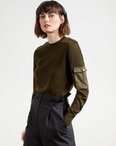 Thumbnail for your product : Ted Baker Long Sleeve Utility Sweater