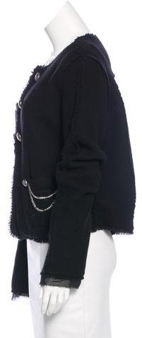 Haute Hippie Chain-Embellished Wool Jacket w/ Tags