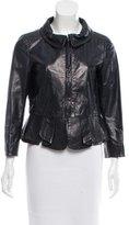 Miu Miu Pleat-Accented Leather Jacket