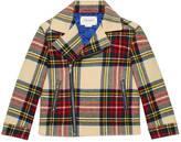 Gucci Children's wool tartan biker jacket
