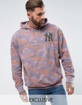 Majestic Oversized Yankees Hoodie In Camo Exclusive To Asos