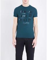 Armani Jeans Logo-appliqué Stretch-cotton T-shirt