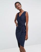 Wal G Sleeveless Asymmetric Dress