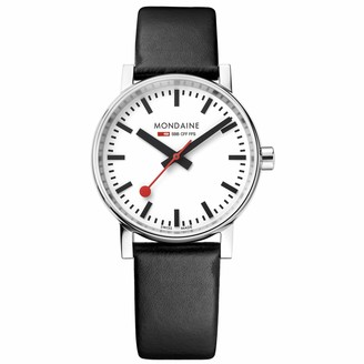 Mondaine SBB Stainless Steel Swiss-Quartz Watch with Leather Calfskin Strap
