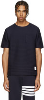 Thom Browne Navy Rope Stitched T-Shirt