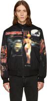Givenchy Black Heavy Metal Bomber Jacket