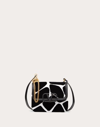 Valentino Small Vsling Nappa Shoulder Bag With Giraffe Embroidery Women Silver 100% Pelle Di Vitello - Bos Taurus OneSize