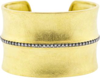 Todd Reed Diamond Line Wide Gold Cuff