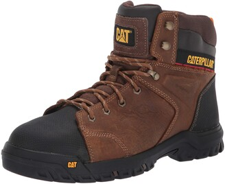 Caterpillar Men's Wellspring Waterproof MG Steel Toe Industrial Boot Real Brown 7.5 M US