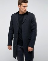 Jack Wills Woven In UK Overcoat