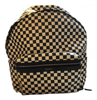 Saint Laurent City Backpack Black Cloth Bags
