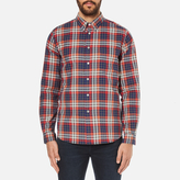 Paul Smith Men's Checked Long Sleeve Shirt Red